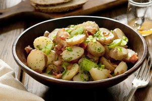 Leave the skin on waxy potatoes for a rustic potato salad.