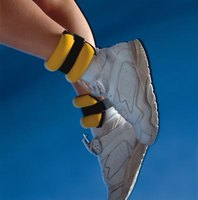 Ankle weights boost the intensity of resistance exercises.