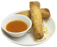 You can get lighter, flakier egg rolls by using phyllo dough.