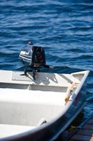 Outboard motors work well for small boats.