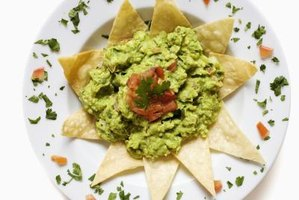 Basic food safety precautions keep guacamole safe for eating.