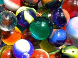 Commercially manufactured glass marbles were available in the 1920s.