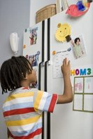 Instead of cluttering up the refrigerator, you can paint a magnetic whiteboard on any wall.