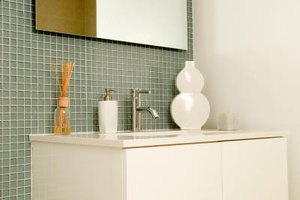 Use non-sanded grout on glass tiles.