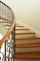 Use a stair nose to create rounded stair edges in front of the stair treads.