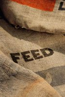 Feed sacks provide interesting material for craft projects.