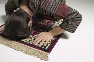 Many prayer rugs have been handed down through generations in a family.