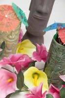 If you're having a luau, create your own decorations with some simple craft projects.