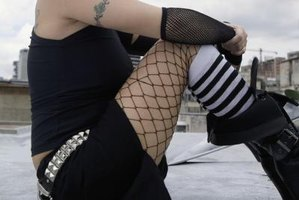 Fishnet stockings can be a useful accessory for an '80s costume.