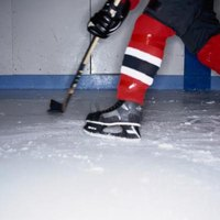 Hockey socks are open ended and run from your ankle to mid-thigh.