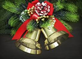 Christmas bells are often adorned with a Christmas motif.