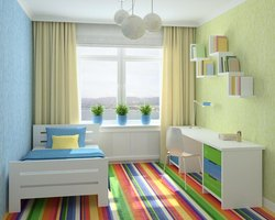 Bright colors in a teen bedroom are more about capturing energy than relaxing.
