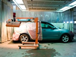 Powder coating is widely used in the automotive industry.