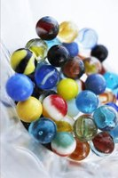 A colorful assortment of playing marbles can be bagged.