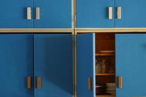Don't want to live with the landlord's ugly blue cabinets, you don't have to.