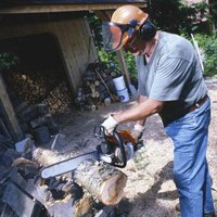 Use a sawbuck to cut firewood.