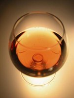 Brandy is often aged in oak, accounting for its rich color.