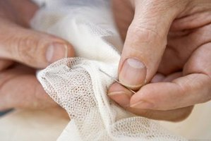 Stitching by hand provides the finishing touch to many sewing projects.