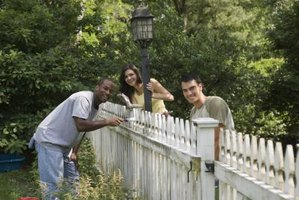 Get your fence in tip-top shape before painting it.