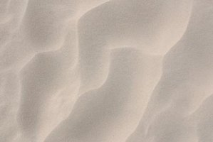 Sand is one of two types of aggregate used in concrete.