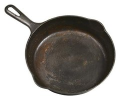 Cast iron is used to make pans and skillets.