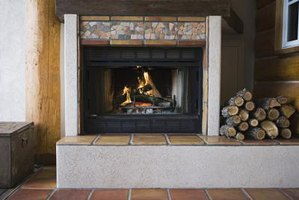 Protect the Floor in front of your fireplace by building a fireproof cement hearth.