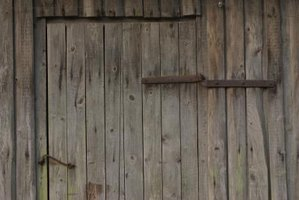 Old barn board will add a rustic look to your outdoor shower.