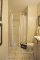 Dress up your shower surround with a decorative trim treatment.