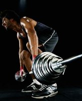 Perform deadlifts with proper technique.