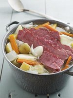 Combine the corned beef brisket with cabbage and your favorite vegetables.