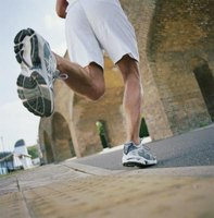 Wear proper cushioned running shoes on concrete.