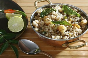 Bowl of cooked sabudana