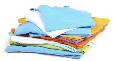 Use different-colored, bright T-shirts for an eye-catching quilt.