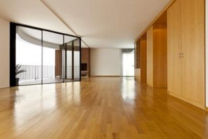 A modern apartment with hardwood flooring.