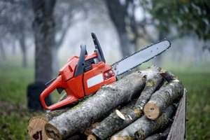 A chain saw starts easier after it has been stored properly.