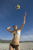 Upper-body strength is important for every aspect of a volleyball game.