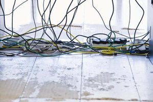 Excess current damages wires.