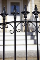 Modern wrought-iron fences are actually steel.