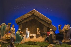 Decorating churches for Christmas often includes staging a nativity play or scene.