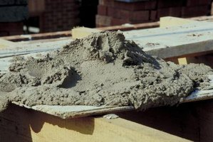 Cement can be easily molded while it is still wet.
