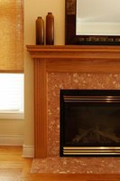 Mantel designs and materials range from simple to ornate.