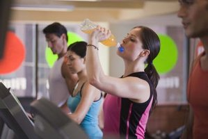 Energy drinks can keep you going at the gym.
