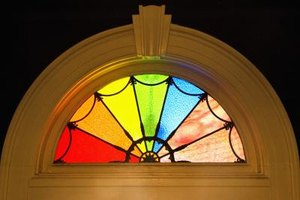 Stained-glass windows can create colorful light patterns in your home.