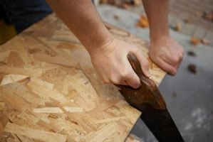Traditional woodworkers use handsaws to cut angles.
