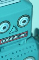 Make a whimsical robot using craft materials.