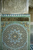 Moroccan patterns are intricate and geometric.