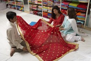 A sari can spice up a tired living space.