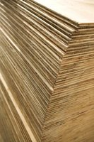 The density of plywood plays a part in its weight.