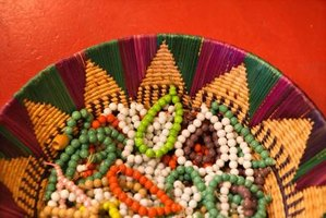 Beaded rosettes are a traditional Native American art form.
