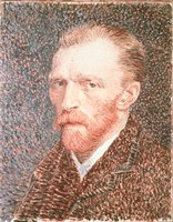 Vincent Van Gogh painted this portrait of himself in 1887.